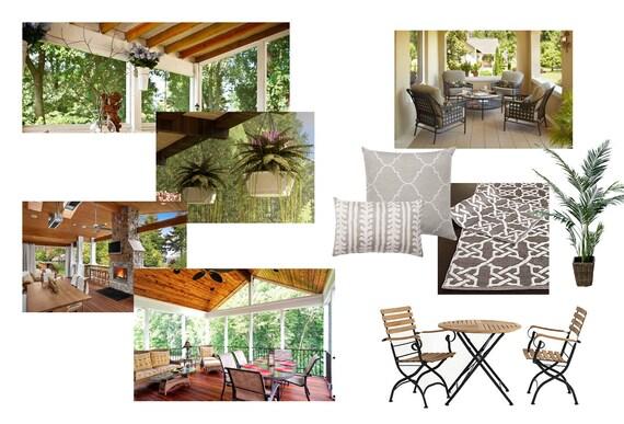 Terrasse Design Moodboard - moderne Veranda - Platz im freien Design