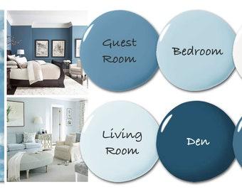 Prepackaged Paint Palette - Home Color Palette - Home Paint Selections