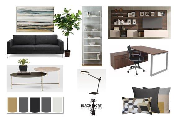 Attirant Office Online Interior Design Moodboard   Modern Office Designs    Contemporary Office Designs   Masculine Office