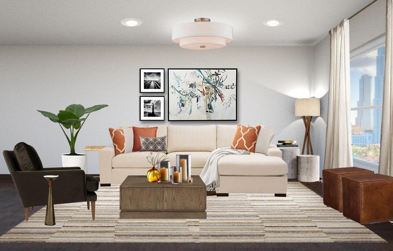 Modern Living Room Interior Designs - Masculine Living Room Designs -  Contemporary Living Room Designs - Neutral Living Room