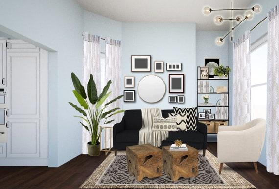 Mid Century Living Room Interior Designs - Small Living Room Designs -  Small Space Planning - Modern Living Room Designs