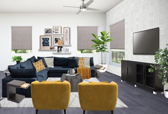 Moderne Wohnzimmer Innenarchitektur - männliche Wohnzimmer Designs -  moderne Wohnzimmer Designs - moderne TV-Raum Designs - Media-Raum
