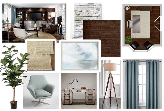 Office Online Interior Design Moodboard   Transitional Office Designs    Contemporary Office Designs   Office Color Palette