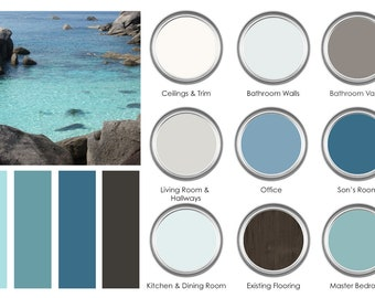 Medium (9 Room) Paint Color Consultation - Home Paint Color Palette - Home Paint Selections for up to 9 Rooms