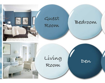 Mini (up to 6 Rooms/Colors) Paint Color Consultation - Home Color Palette - Home Paint Selections for up to 6 Rooms/Colors
