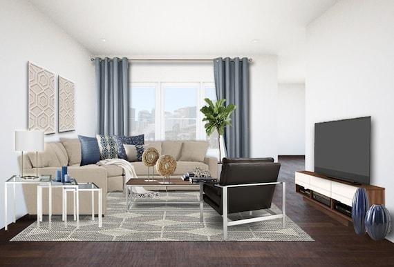 Modern Living Room Online Interior Designs - Contemporary Living Room  Designs - Modern TV Room Designs