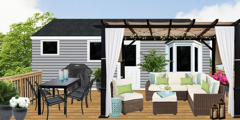 Frühling-Verkauf Terrasse Design moderne Patio Terrasse | Etsy