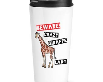 Giraffe travel mug | Etsy