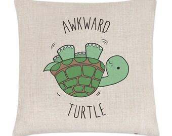 Awkward Turtle Linen Cushion Cover