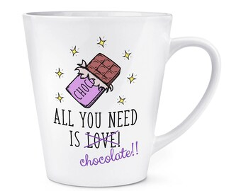 All You Need Is Love Chocolate 12oz Latte Mug Cup
