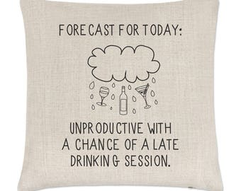 Forecast For Today Linen Cushion Cover