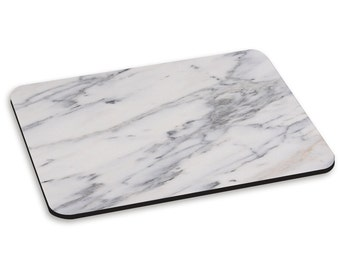 Marble Grey White Veined Effect Pattern PC Computer Mouse Mat Pad