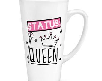 Status Queen 17oz Large Latte Mug Cup