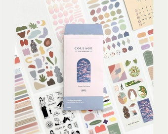 COLLAGE Sticker Pack [8sheets] / Journal Stickers / Scrapbooking / Decorative Stickers / Bullet Journal / Card Making / Scrapbook