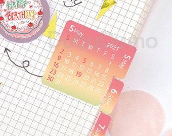 2021 Calendar Stickers [8coors] / Calendar 2021 / Index Tab Stickers / 2021 Planner Stickers / Label Stickers / Scrapbooking Stickers