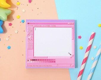 pink painter notepad pink notepads memo pad stationery scrapbooking organize christmas gift cute notepad kawaii notepad