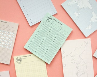 STUDY Sticky Notes [8Types] / Daily Checklist / Colorful Notepads / 10minutes plan / Memo pad / Sticky Note / Scrapbooking / Study Planner