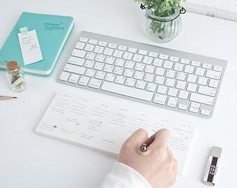 Keyboard Notepad / Weekly Planner Memo Pad / 2020 Planner / Diary / Agenda / Journal / Bullet Journal / Scrapbooking / School Supplies