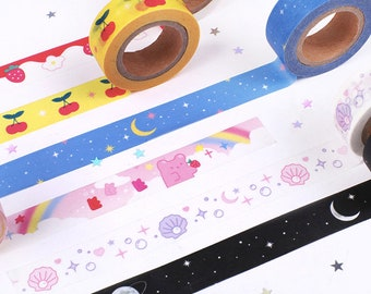 Colorful Washi Tape / Masking Tape / Scrapbooking / Decoration / Planner Stickers / Planner Tape / Bullet Journal / Craft Supplies / DIY