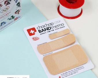 Sticky Note [ Band-Aid ] / Notepad / Notepads / Memo pad / Bookmark / Index Sticky Note Tab / Stationery / Scrapbooking / Cute Notepad
