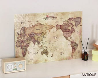 World map puzzle etsy world map jigsaw puzzle 1000 pieces antique pastel gumiabroncs Choice Image