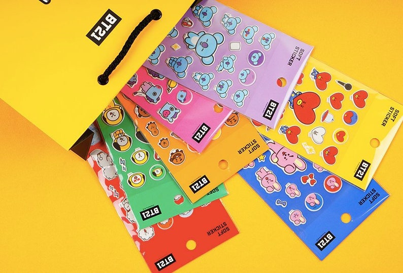 graphic regarding Planner Supplies titled BT21 Planner Stickers / BTS Comfortable Stickers / Sbooking / Decoration / Bullet Magazine / Planner Components / Do-it-yourself / Diary Deco Stickers