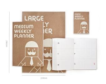 Weekly Planner Notebook / Weekly Diary Journal /  2018 Planner / Planner 2018 / Undated Planner / Agenda / Journal / Diary / Bullet Journal