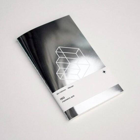 oblique patterned notebook grid notebook journal notebook etsy