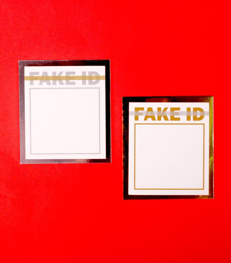 FAKE ID Notepad  Unique Memo pad  Funny Notepads  Personalized Notepad  Sticky Notes  Stationery  Scrapbooking  Bullet Journal