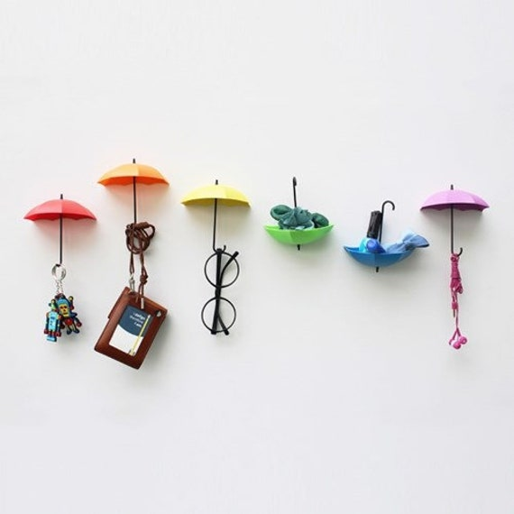 Umbrella Wall Hooks Funny Wall Hanging Colorful Wall Decor Etsy