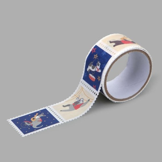 Masking Tape Single : Stamp Ver. [Animal Musicians] / Washi Tape Single / Scrapbooking / Deco Stickers / Stationery / Journal Stickers /