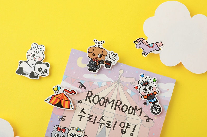 Circus Notepad  Pink Notepads  Cute Memo Pad  Stationery  Korean Scrapbooking  Organize  Scrapbooking  School Supplies  Gift for Her