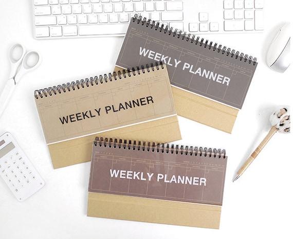 Kraft Weekly Planner Desk Weekly Planner 2019 Planner Etsy