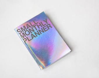 Small Monthly Planner [Hologram / Kraft] / Monthly Schedule / Diary / Undated Planner / Academic Planner / Bullet Journal / Diary / Agenda