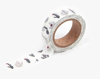 CACTUS Washi Tape / Masking Tape / Scrapbooking / Decoration / Planner Stickers / Planner Tape / Bullet Journal / Craft Supplies / DIY