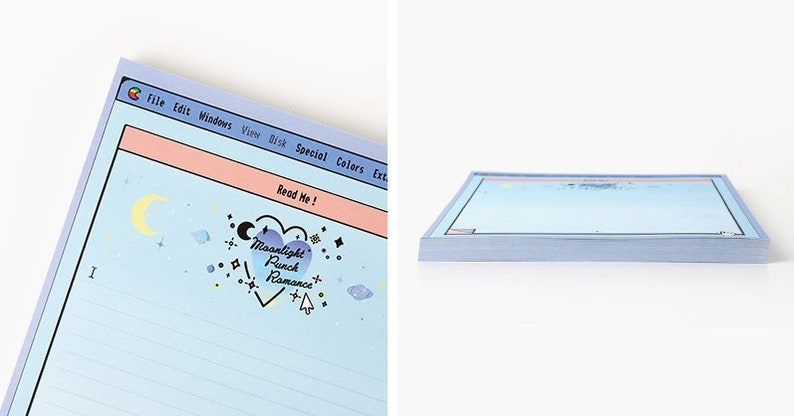 A5 Blue Moonlight Notepad  Blue Notepads  Memo Pad  Stationery  Scrapbooking  Organize  Christmas Gift  Cute Notepad  Kawaii Notepad