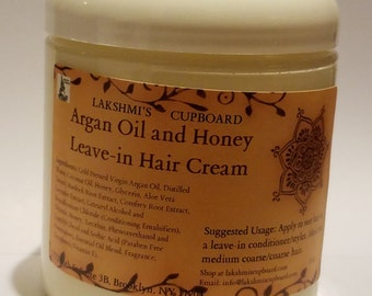 Argan Oil and Honey Leave-in Hair Cream 8 oz (Leave In Conditioner)