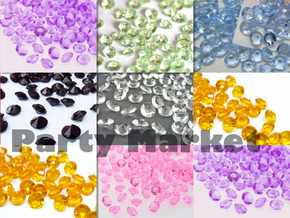 4.5mm 6mm 8mm 10 mm Acrylic Diamond Confetti Wedding Deco Supplies Table Scatter