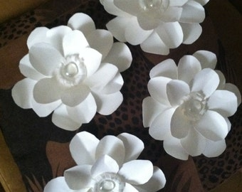 "Heavyweight paper flower Magnolia - (set of 6) - ""Still Magnolias"""