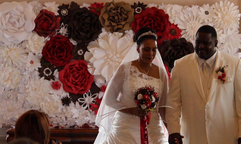 backdrops 5 u0026 39 x8ft fall wedding paper flower backdrop