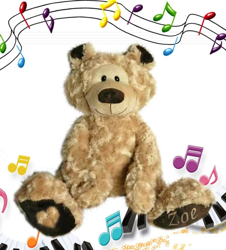 b11098caef8 Personalised Singing Teddy Bear that sings YOUR CHILDS NAME