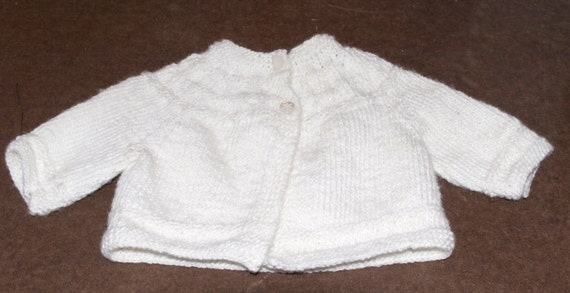a53ee2d921f97 0-3 Month Baby Sweater with Buttons
