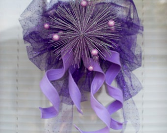 Sparkly Purple Wall Hanging