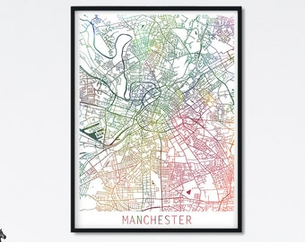 ART PRINT GRAPHIC POSTER OLD STREET PHOTO ENGLAND MAP OF WARRINGTON