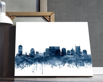 Atlanta Downtown Night Skyline 4.1 Wall Art Canvas Picture Print