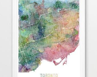 Urban toronto map | Etsy