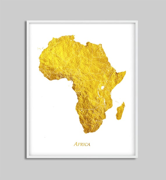 Map Of Africa Download.Africa Map Print Africa Decor Africa Wall Art Gold Color Map Africa Poster Gold Foil Texture Home Decor Travel Digital Printable Art