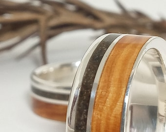 Original set silver rings olive and dust - New options for different wedding rings