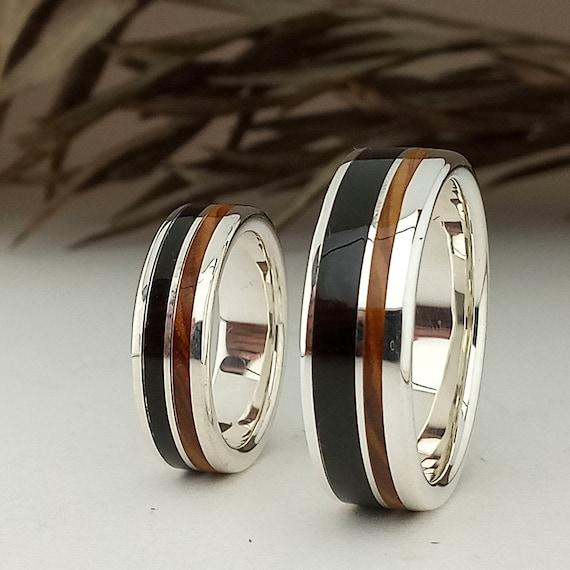 Custom Jewelry Wedding Bands Zebra and Ebony Wood Any Occasion.