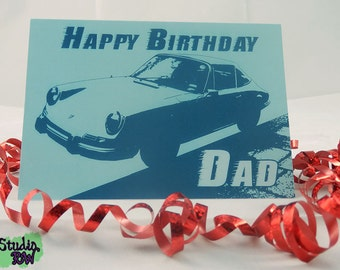 Dad Classic Car Birthday Card
